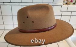 Akubra Coober Pedy Felt Hat Australian Opal US size 7 1/2. Metric 60 Imperial