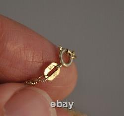 Antique Old Vtg 22k Solid Gold & Green Carved Jade Opal Necklace Pendant 18