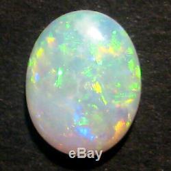 Australian Andamooka Crystal Opal Solid Cut Stone Mutlicolor lots of green 2187
