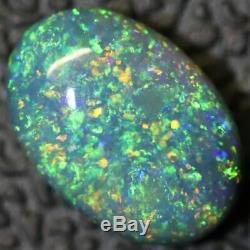 Australian Black Opal Lightning Ridge, Solid Gem Stone, Cabochon 1.0 cts