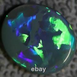 Australian Black Opal Lightning Ridge, Solid Gem Stone, Cabochon 1.5 cts