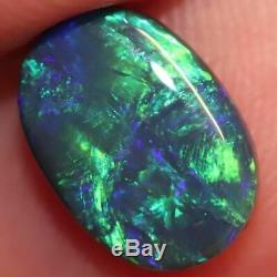 Australian Black Opal Lightning Ridge, Solid Gem Stone, Cabochon 1.94 cts