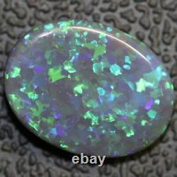 Australian Black Opal Lightning Ridge, Solid Gem Stone, Cabochon 2.78 cts