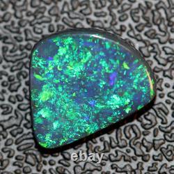 Australian Black Opal Lightning Ridge, Solid Stone 2.74 cts