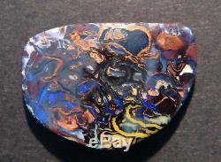 Australian Boulder Opal Solid Loose Stone beautiful markings 29x21mm (1949)