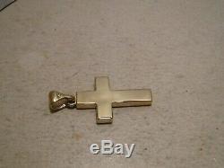 Australian Gem Opal Cross Pendant solid 14 k yellow gold