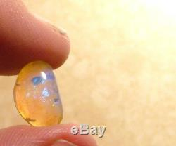 Australian Lightning Ridge Crystal Opal Solid Cut Stone 2.32ct Blue green (3155)