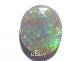 Australian Lightning Ridge Opal Solid Cut Stone Semi Black (2918)