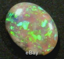 Australian Mintabie Crystal Opal Solid Cut Stone Bright greens 9x7mm (755)