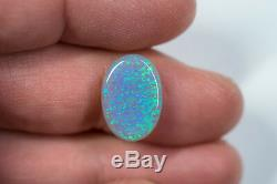 Australian Natural Solid Rare Semi Black Opal Stone 5.54 ct Gem SBOPA060119