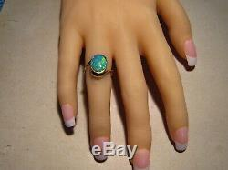 Australian Opal Ring 4.2 grams solid 14k Yellow Gold Free Re Size