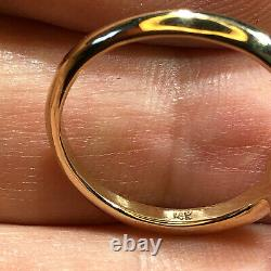 Australian Opal Ring VIDEO Gem Crystal LR Solid 14k Gold 4 Prong Band 1.25ct W26