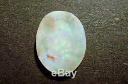 Australian Opal Solid Cut Loose Stone Translucent Green and blue 7.9ct (2323)