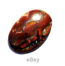 Australian Queensland Boulder Opal Solid Cut Stone Blues and Greens (2363)