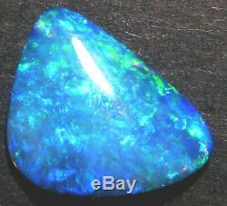 Australian Skinny Shell Crystal Opal Solid Cut Stone Blue Green 15x12mm (1813)