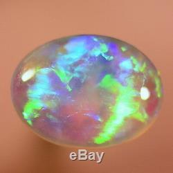 Awesome Bright Greens Solid Australian Lightning Ridge Black Crystal Opal 13665