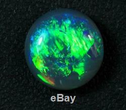 BLACK OPALS AUSTRALIAN LIGHTNING RIDGE SOLID STONE 4.52 cts +Vid