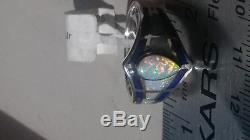 BRILLIANT Art Deco Ladies Ring Blue Lapis Opal Tear NWT $500.00 9 Sterling Solid