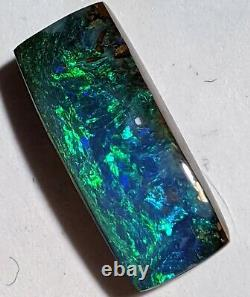 Bar-Cut! 12.5ct Solid Boulder Opal GREEN & BLUE Rectangle Queensland AU