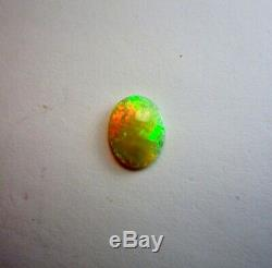 Beautiful Aust. 12x9 Lightning Ridge 1.56 Ct. Solid Black Crystal Opal
