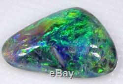 Beautiful Green 2.0 Carat Solid Lightning Black Opal