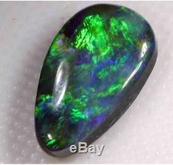 Beautiful Green Blue 2.10 Carat Solid Lightning Black Opal