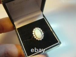 Beautiful Victorian Solid 9 Ct Gold Ring Rare-superb Green Opal &spinnels-size I
