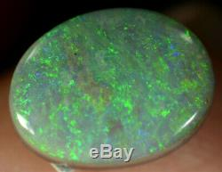 Black Opal Australian natural solid 1.65 ct electric blue/green colours gemstone