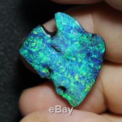 Black Opal Lightning Ridge Australian Solid Carving Stone, 14.80 ct