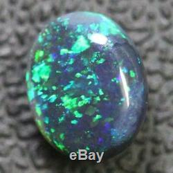 Black Opal Lightning Ridge Australian Solid Loose Stone, Cabochon 1.40 ct