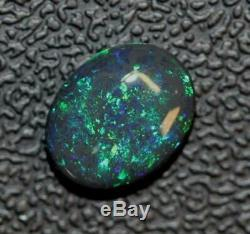 Black Opal Lightning Ridge Australian Solid Stone, Cabochon 2.75 ct