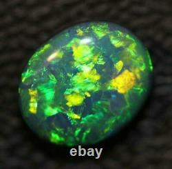 Black Opal Lightning Ridge stone Solid Cabochon 1.75 cts
