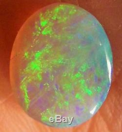 Black Opal Solid 12 x 9.6 x 3.2mm 2.62 carats AUSTRALIA