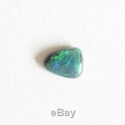 Black opal 0.91ct 7.8 x 6 natural solid loose stone Lightning Ridge Australia