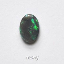 Black opal crystal 1.51ct 11 x 7mm Natural solid stone Lightning Ridge Australia
