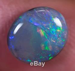 Black opal solid Lightning Ridge loose gem 1.81ct Australian Opal BD180119