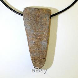 Blue & Green Solid Boulder Opal Pendant