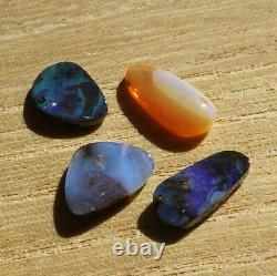 Boulder opal 11.72ct set of 4 Australian natural solid loose stone Winton parcel