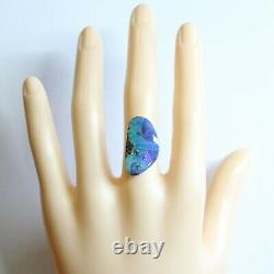 Boulder opal 11.85ct 25 x 14mm Australian opal natural solid loose unset stone
