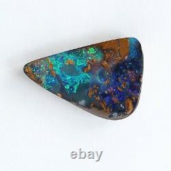 Boulder opal 17.26ct 25 x 17.7mm Australian opal natural solid loose stone