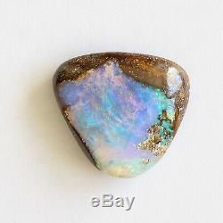 Boulder opal 18.52ct 20 x 19mm Australian opal natural solid loose unset stone