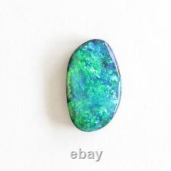 Boulder opal 2.33ct 12 x 7mm Australian opal natural solid loose unset stone