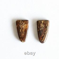 Boulder opal 3.49ct set of 2 Australian natural solid loose stone Winton parcel