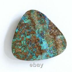 Boulder opal 54.88ct 34 x 33mm Australian opal natural solid loose unset stone