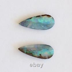 Boulder opal 7.51ct set of 2 Australian natural solid loose stone Winton parcel