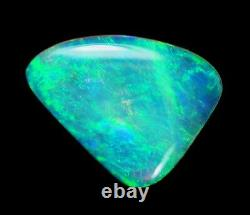 Bright Flash Australian Andamooka Crystal Solid Opal 10x13.2x2.4mm 1.95ct