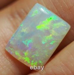 Bright Flash Australian Andamooka Crystal Solid Opal 3.43 ct Green Orange Blue