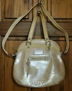 Coach Poppy Spotlight Sequins Bag Opal Pearl White Purse Ltd Edition 16303