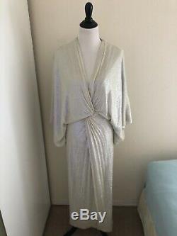 Diane Von Furstenberg DVF Jessi Opal Sequin Dress US 2 4