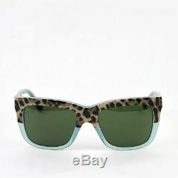 Dolce & Gabbana Square Leopard Print/Opal Green Frame Sunglasses 4262 2971/71